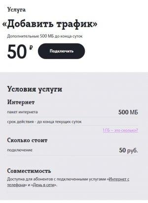 Дополнительные гигабайты на Теле2